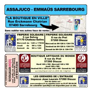 Calendrier Sarrebourg 2021 VERSO (Autres boutiques)