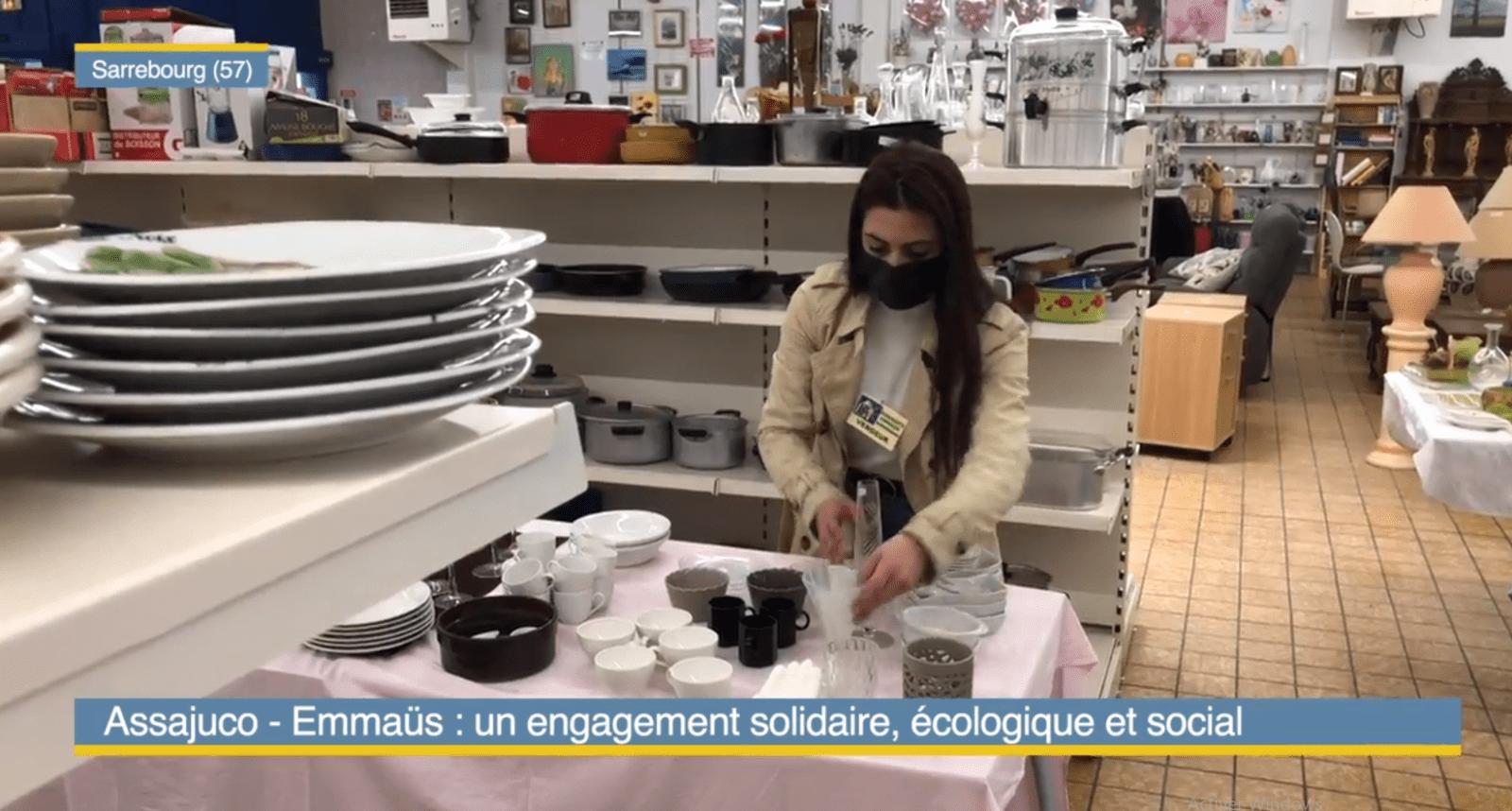 Passage de ViàMoselle TV à la boutique en ville de Sarrebourg